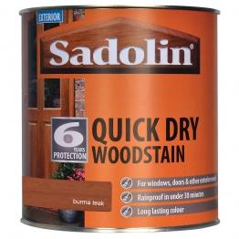 Sadolin Quick Dry Woodstain Burma Teak 1 Litre