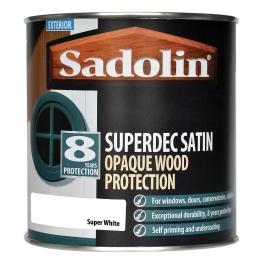 Sadolin Superdec Satin Opaque Wood Protection Super White 2.5l