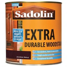 Sadolin Extra Durable Woodstain Jacobean Walnut 1l