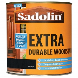 Sadolin Extra Durable Woodstain Ebony 1l