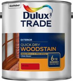 Dulux Colour Dimensions Weathershield Aquatech Woodstain Red 2.5 Litre
