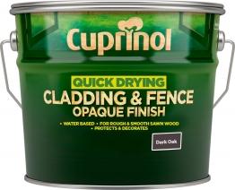 Cuprinol Quick Drying Cladding & Fence Opaque Finish Dark Oak 10l