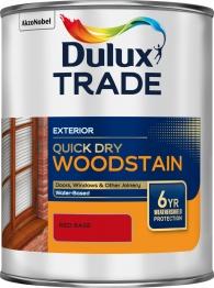 Dulux Colour Dimensions Weathershield Aquatech Woodstain Red 1l