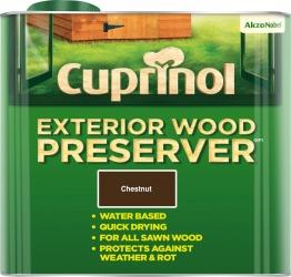 Cuprinol Exterior Wood Preserver Chestnut (bp) 2.5l