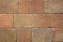 Bradstone Woburn Rumbled Concrete Block Paving Autumn 134x134x50mm