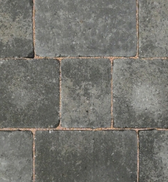 Bradstone Woburn Rumbled Concrete Block Paving Graphite 134x134x50mm