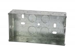 4trade Metal Box 2 Gang 35mm