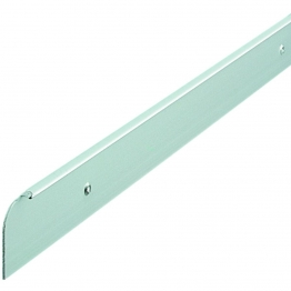 Unika 40mm Silver Worktop Aluminium End Trim 630mm/6mm Radius E40slp5mm