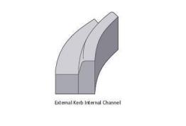 Concrete Kerb 125 X 150mm Bull Nosed Radius External 6m Bs7263.3