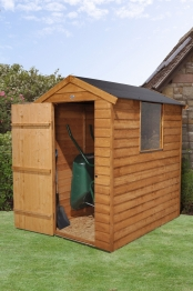 Overlap Dip Treated Apex Shed With Easy Fit Roof 1219mm X 1829mm