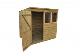 Tongue And Groove Pressure Treated Pent Shed 2134mm X 1524mm