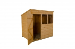 Shiplap Dip Treated Pent Shed 2134mm X 1524mm