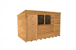 Overlap Dip Treated Pent Shed 3048mm X 1829mm