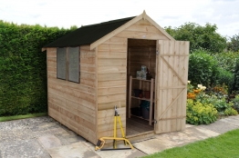Overlap Pressure Treated Apex Shed With Onuline Roof 1829mm X 2438mm