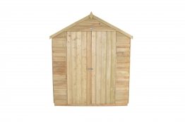 Overlap Pressure Treated Double Door Apex Shed No Windows 2438mm X 3048mm