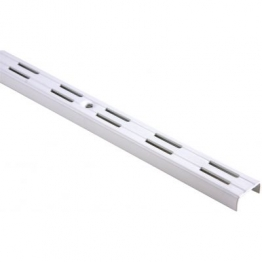 Twinslot Upright Antibacterial Coated White 1980mm