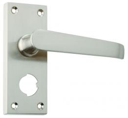 4trade Satin Nickel Victorian Lever Privacy Furniture
