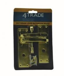 4trade Brass Victorian Bathroom Lever