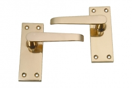 4trade Brass Victorian Lever Latch