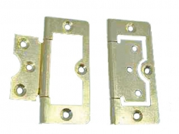 4trade Hinges Flush Electro Brass 75mm Pack Of 2