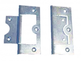 4trade Hinges Flush Zinc Plated 63mm Pack Of 2