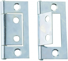 4trade Flush Hinge Chrome Plate 60mm Pack Of 2