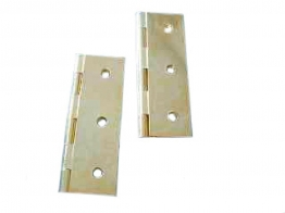 4trade Brass Solid Drawn Hinge 75mm Pack Of 2