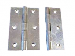 4trade Butt Hinges Zinc Plated 63mm (pack Of 2)