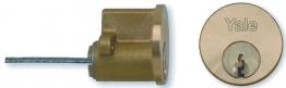 Yale 2 Keyed Cylinder Polished Brass