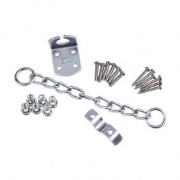 Security Door Chain Satin Nickel