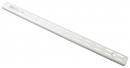 Twinslot Upright 1220mm White Antibacterial Coated