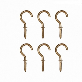 4trade Hooks Cup 25mm Electro Brass (pack Of 6)