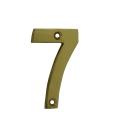 4trade Numeral 7 Face Fix 75mm Brass
