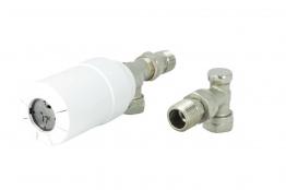 Danfoss Living Eco Progrmble Thermostatic Radiator Valvle Sensor & Body & L/s 8/10/15mm Ang 014g006200