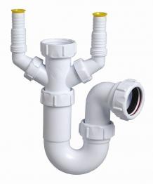 Multikwik Pwm040d 40mm Washing Machine Trap Double Nozzel White