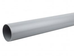 Osmasoil 110mm System Grey Plain Ended Pipe 4m 4s074