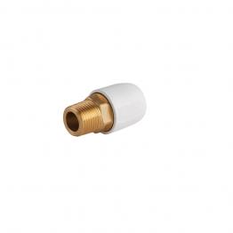 Hep2o Hx29/15w Brass Adaptor Male 1/2in X 15mm White