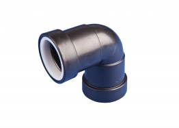 Osma 40mm Pushfit Waste Black Knuckle Bend 90 Degree