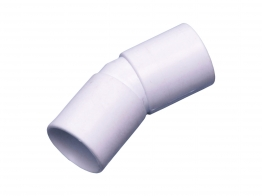 Osma 21.5mm Solvent Weld Overflow Bend 45 Degree White