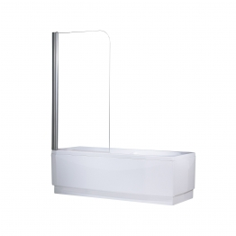 Novellini Auroran185-1k Aurora Shower Enclosure 1 Clear Chrome Bath Screen 850mm