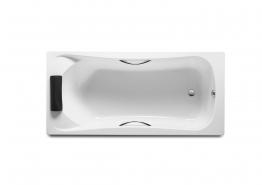 Roca A248015001 Becool Bath White 2 Grips 1 Headrest 1800mm X 800mm