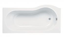 Iflo Rennes Evo P Shaped Shower Bath Left Hand 1700mm X 850mm