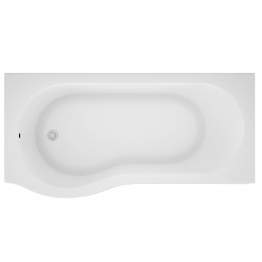 Iflo Rennes P Shaped Shower Bath Left Hand 1500mm X 850mm