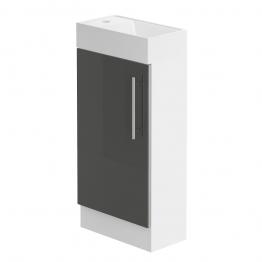 Form 400 Floorstanding Hand Basin Unit/w.h.gloss. Graphite Lucido