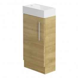 Form 400 Floorstanding Hand Basin Unit/odessa Oak