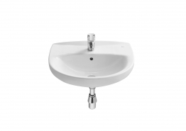 Roca A325394000 Laura Basin 1 Tap Hole 520mm X 410mm White