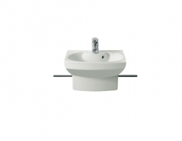 Roca 327514000 Senso Compact Cloakroom Basin Witap Hole Integrated Semi-pedestal 1 Tap Hole 480mm X 375mm
