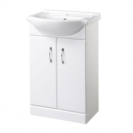 White Vanity Unit & Basin 560mm