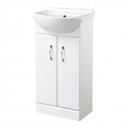 White Vanity Unit & Basin 455mm