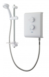 Triton Thermostatic Electric Shower 7.5kw White Chrome
